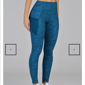 Glyder Social Legging - Moroccan Blue/Illusionary